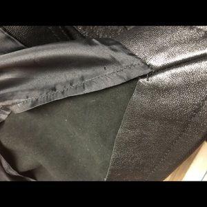 Vintage DKNY Black Leather Skirt